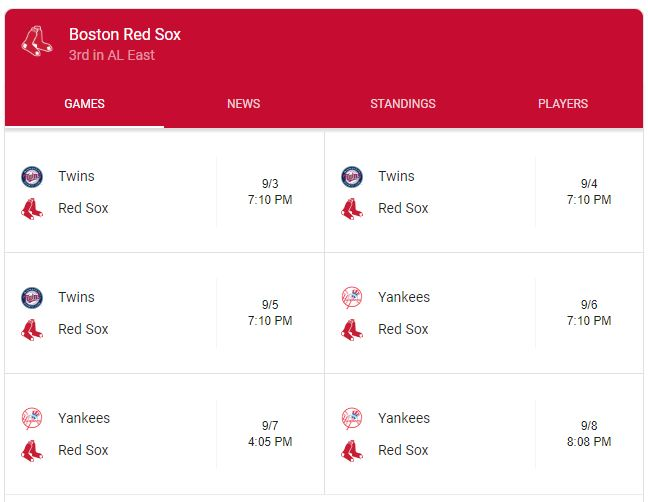 Red Sox schedule - 10 Things to do in Boston Around Inbound