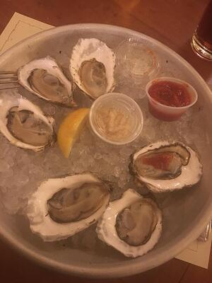 Ye Olde Union Oyster House plate of oysters - 10 Things to do in Boston Around Inbound