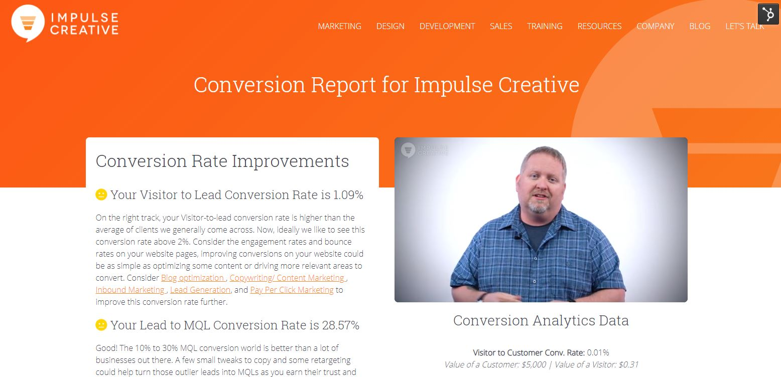 conversion report results as one of 20 Creative Ways to use HubDB on Your Website