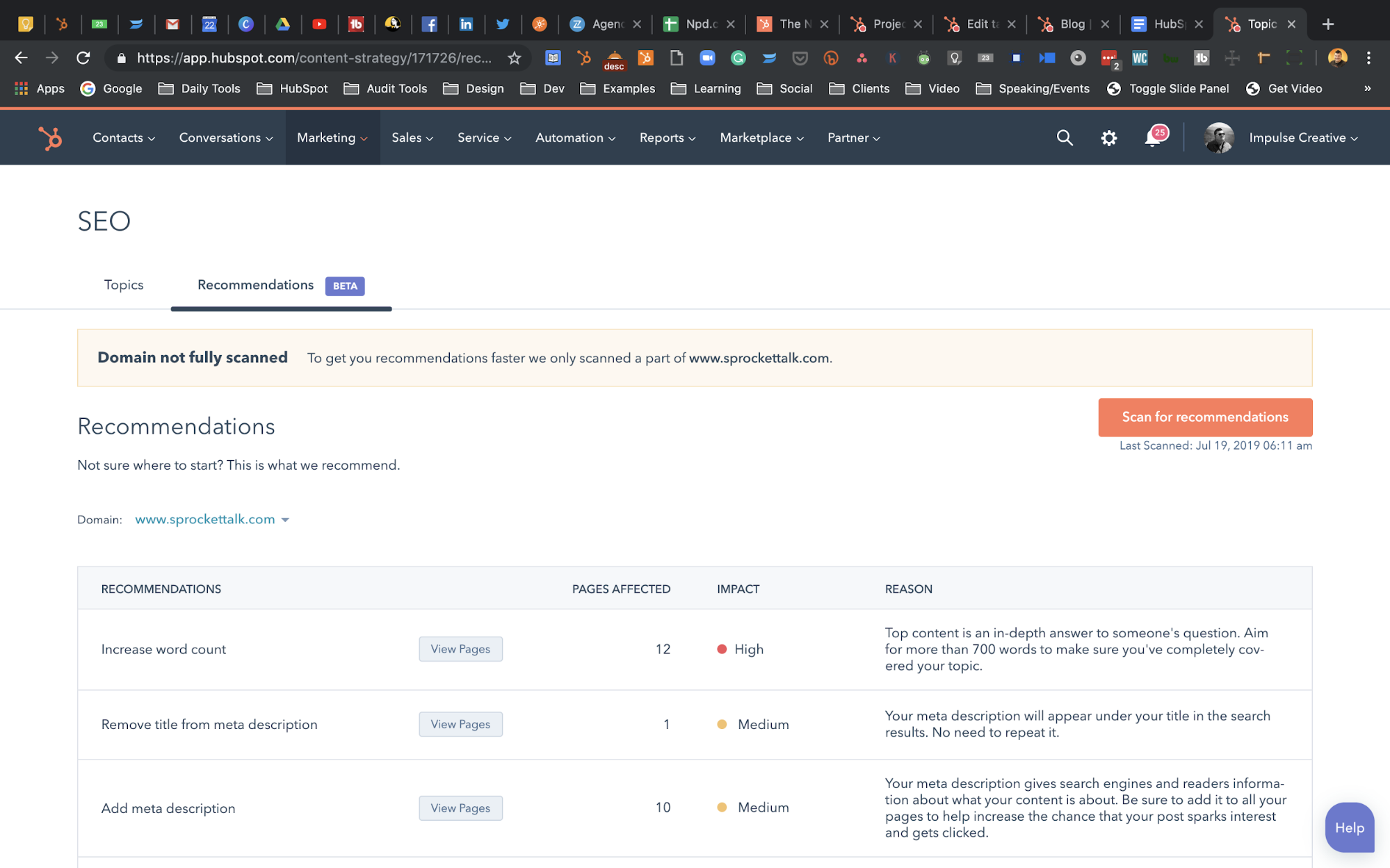 SEO for one of 5 hubspot hacks you didn't know you needed