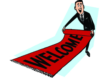 Roll out the welcome mat for website visitors!
