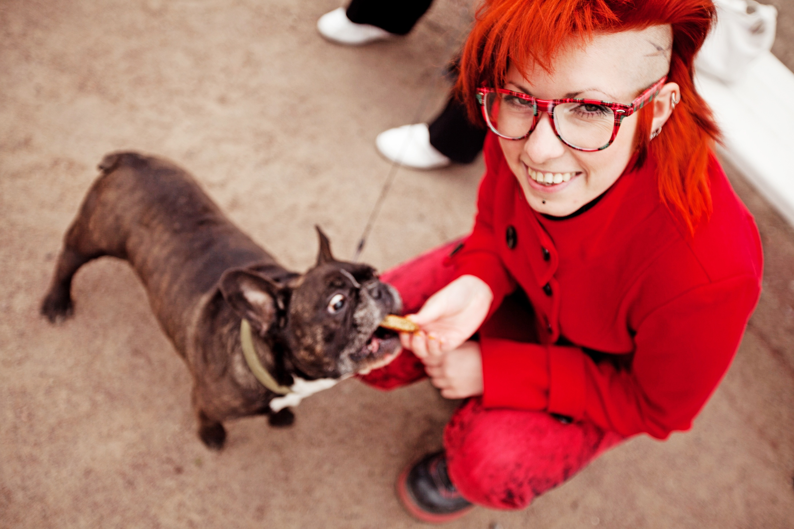 Be real, like this lady feeding fries to a frenchie.