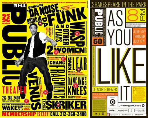 public-theater-branding-typography-paula-scher-pentagram