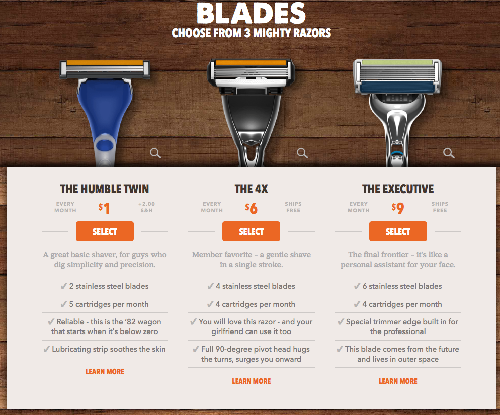 Dollar-Shave-Club-upselling-example