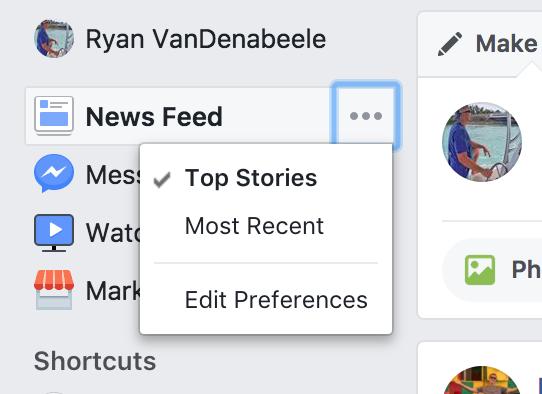 Facebook News Feed choice