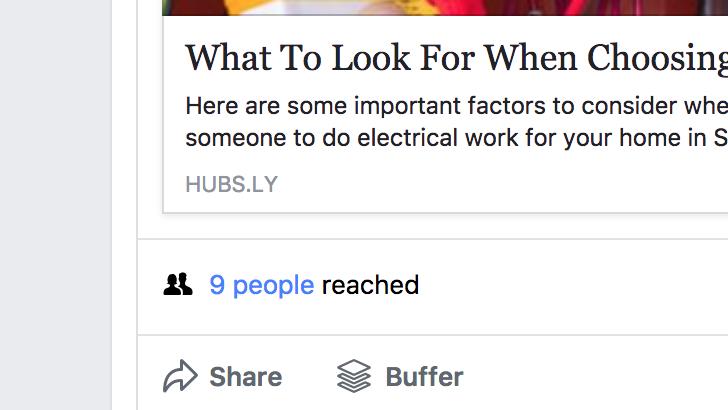 No reach on facebook