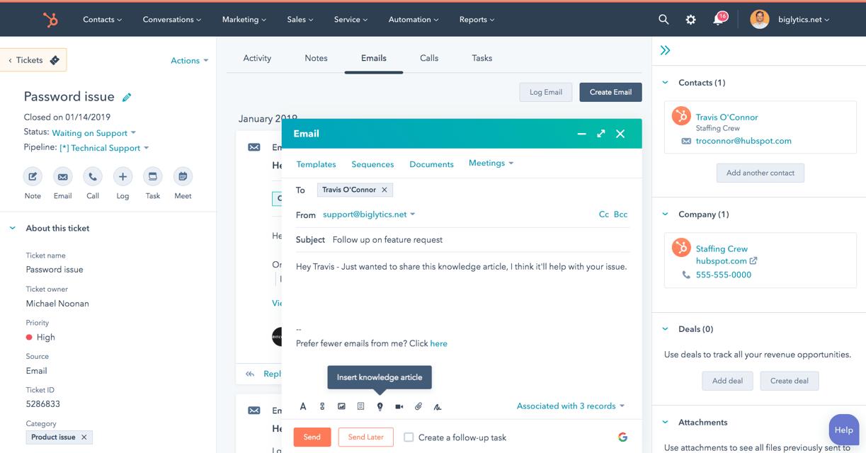 HubSpot Service Hub and Customer Support