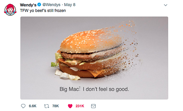 Wendys Social media marketing