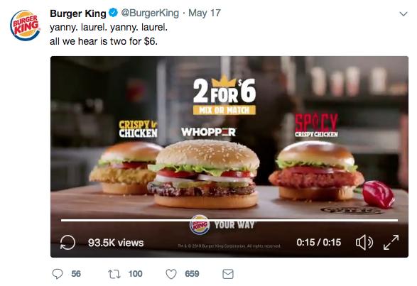 Burger King Laurel vs Yanny