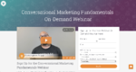Conversational Marketing Fundamentals  On-Demand Webinar