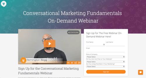 Conversational Marketing Fundamentals  On-Demand Webinar