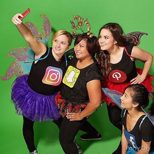 Social butterflies halloween costume