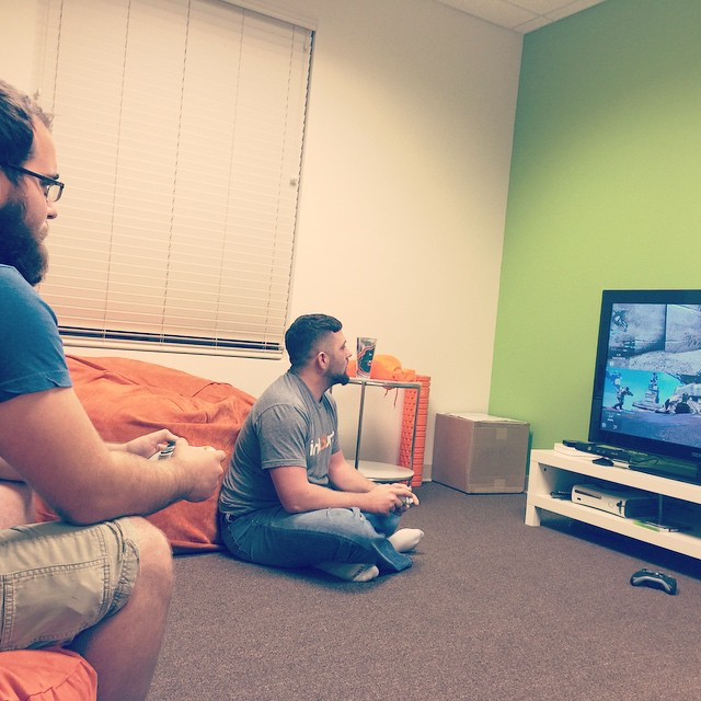Nick and Derek playing Call of Duty