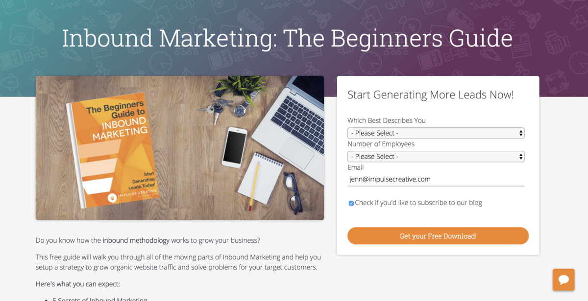 beginners-guide-to-inbound-marketing-impulse-creative-landing-page