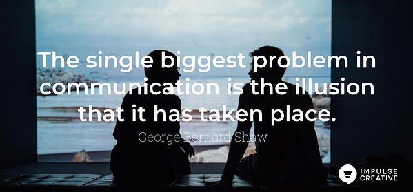 communication quote george bernard shaw