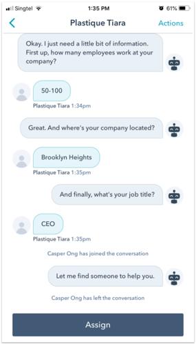 drift vs hubspot conversations mobile app hubspot