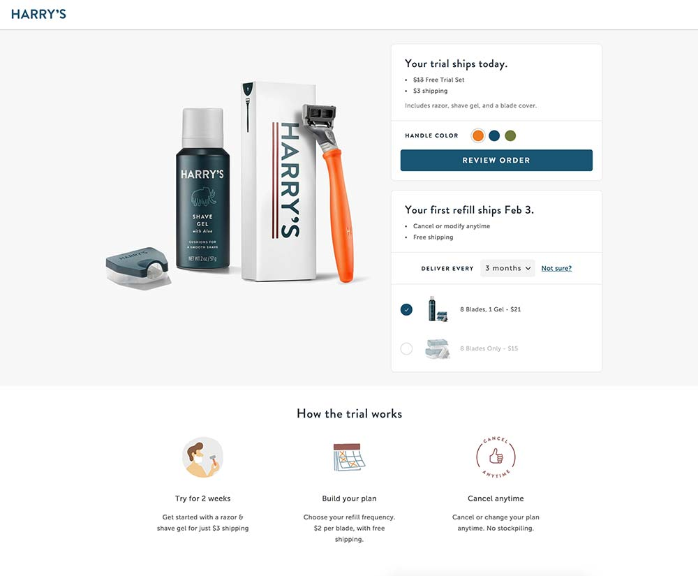 ecommerce-landing-page-examples-harrys