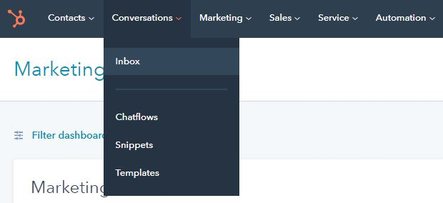 How to connect Facebook Messenger with HubSpot Conversations step 1