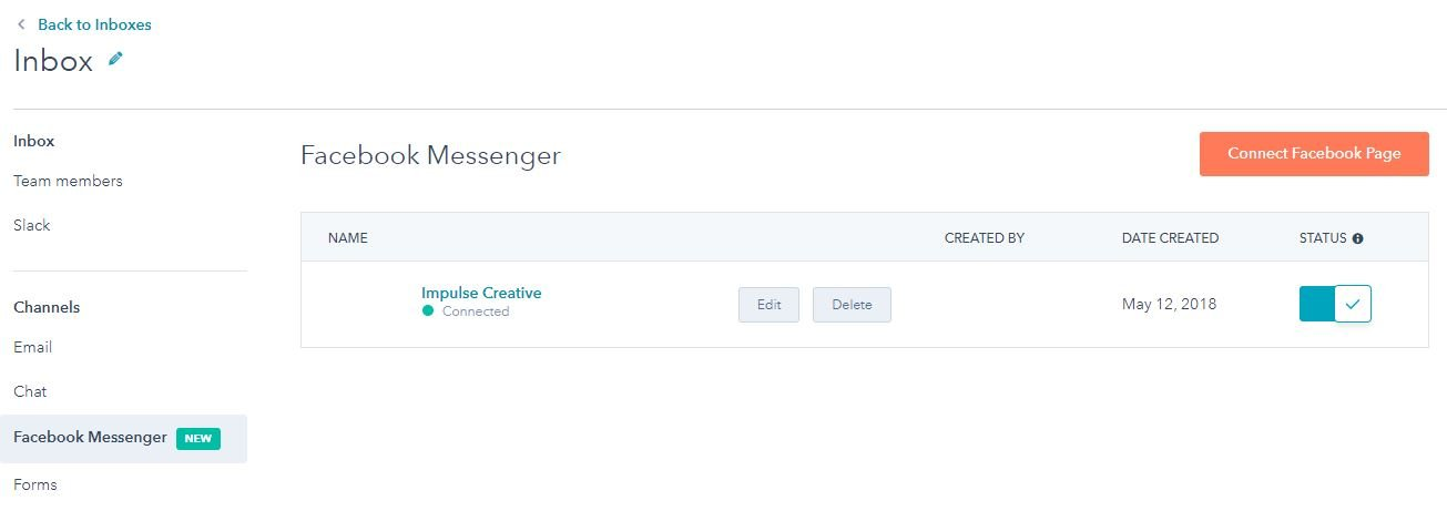 How to connect Facebook Messenger with HubSpot Conversations step 3