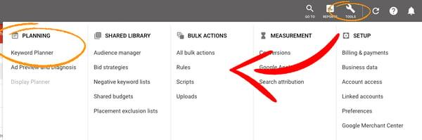 google-ads-keyword-tool-planning