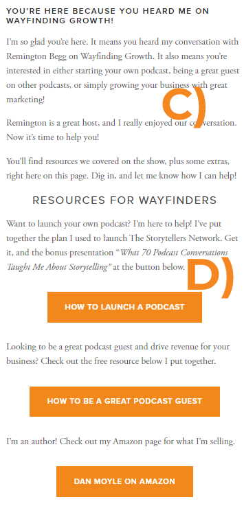 custom landing page example 2 on how-to-be-a-great-podcast-guest-and-generate-revenue-custom-page
