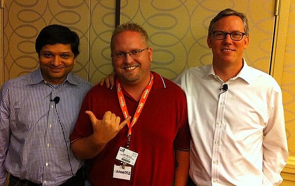 Dan Moyle with Dharmesh Shah and Brian Halligan at #HUGS2011 - How to Survive #INBOUND19