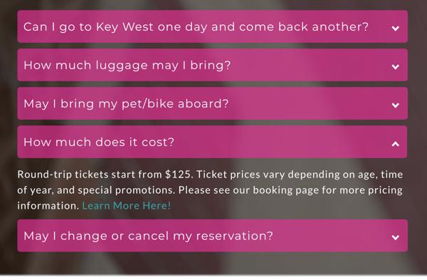key-west-express-accordian-menu-example