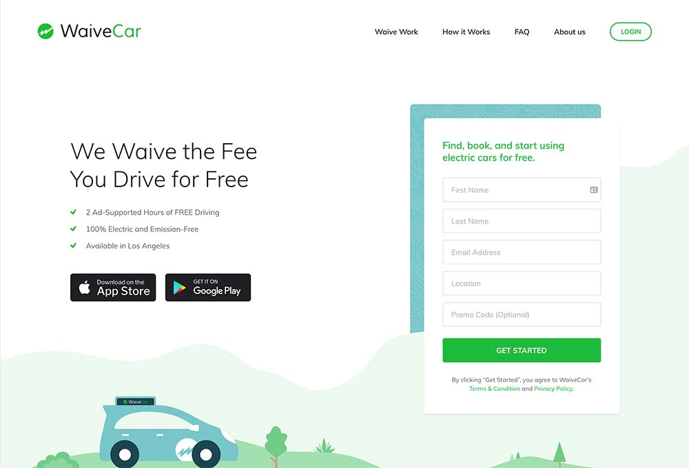 landing-page-design-waivecar