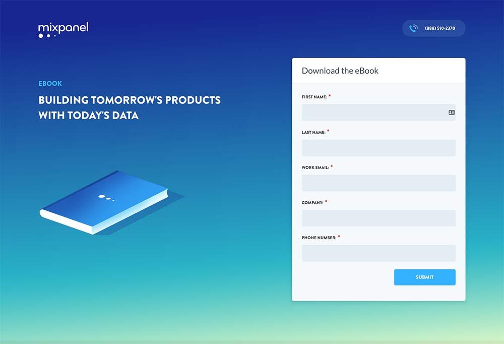 mixpanel-landing-page-design