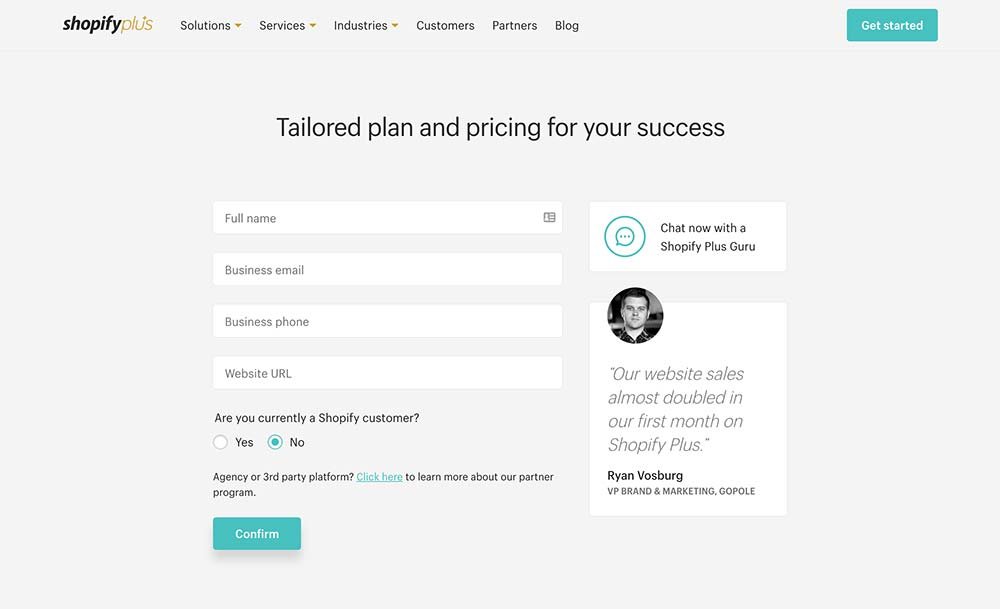 shopify-plus-landing-page