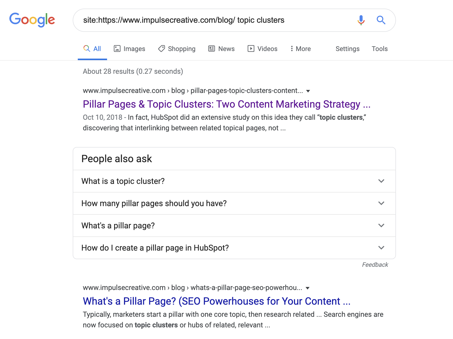 site-search-impulse-creative-blog-topic-clusters-keyword