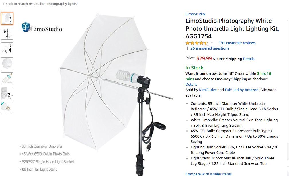 umbrella light